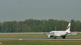 Finnair Oneworld doing taxi in Frankfurt Airport, FRA