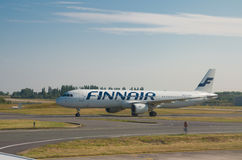 Finnair plane Royalty Free Stock Photo