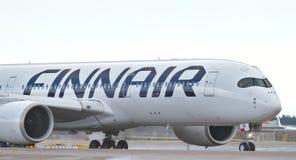 Free Finnair S Airbus On Runway Royalty Free Stock Image - 143540016