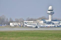 Finnair samolot Fotografia Stock