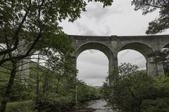 Finnan Viaduct with the river Stock Photo