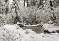Finnerty Pond på universitetet av Victoria Arkivfoto