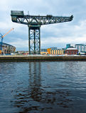 The Finnieston crane - Glasgow. The Finnieston crane on the river Clyde in Glasgow Stock Photography