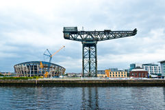 The Finnieston crane - Glasgow. The Finnieston crane on the river Clyde in Glasgow Royalty Free Stock Photo