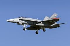Finnische Hornisse F/A-18 Lizenzfreies Stockfoto