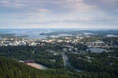 Finnische Landschaft von Kuopio Stockfotografie