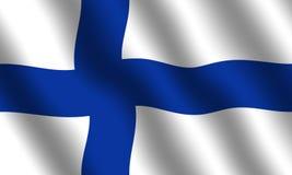 Finnische Markierungsfahne Lizenzfreie Stockfotografie