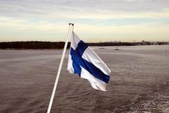 Finnische Markierungsfahne Stockfotografie