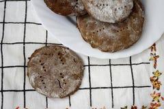 Finnische Roggenkuchen lizenzfreie stockfotos