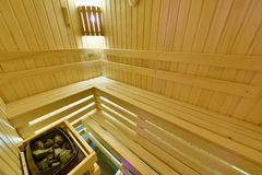 Finnische Sauna Stockfotos