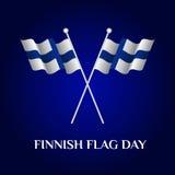 Finnischer Flaggentag Stockfotos