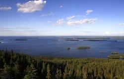 Finnischer See lizenzfreies stockbild