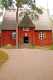 Finnisches Holzhaus Traditionnal Lizenzfreie Stockfotografie