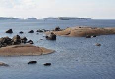 Finnisches Meerbusen. Stockfotos