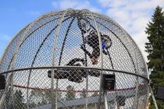 Finnish Cage Riders Stunt Show Stock Photo