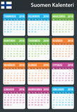 Finnish Calendar for 2018. Scheduler, agenda or diary template. Week starts on Monday Stock Photo