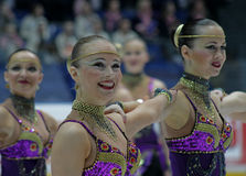 Finnish Championships 2010 - Synchronized Skating Stock Image