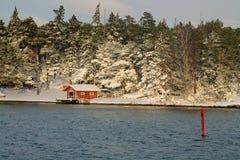Finnish coastline in the winter Stock Photo