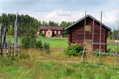 Finnish countryside. Summer, countryside landscape from Lapland Royalty Free Stock Images