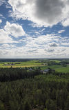 Finnish countryside landscape Royalty Free Stock Photography