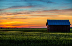 Finnish countryside in summer. Finnish countryside after sunset at midnight Stock Photography