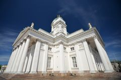 Finnish Evangelical Lutheran cathedral on the Senate square of Helsinki Stock Photo