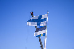 finnish flagę Obrazy Royalty Free