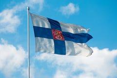 finnish flagę Zdjęcia Royalty Free