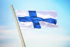finnish flagę Obraz Royalty Free