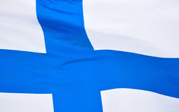 Finnish Flag Royalty Free Stock Images
