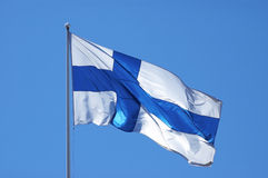 Finnish flag Royalty Free Stock Image