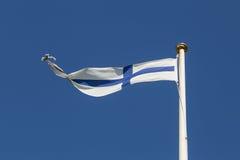 finnish flagę Zdjęcia Stock