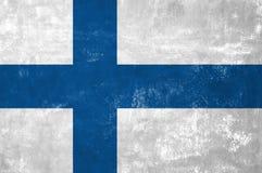 finnish flagę Fotografia Royalty Free