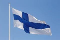 finnish flagę Zdjęcie Stock