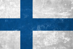 Finnish Flag. Finland - Finnish Flag on Old Grunge Texture Background royalty free stock photography