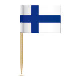 Finnish flag. Flag toothpick Finland. 10eps Royalty Free Stock Photography