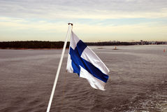 Finnish flag Stock Photography