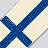 Finnish grunge flag. Vector illustration. Stock Image