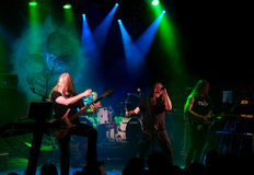Finnish heavy metal band Tarot live on stage royalty free stock image