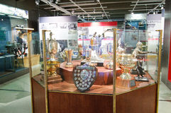 The Finnish Hockey Hall of Fame, trophies Royalty Free Stock Photography