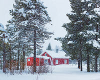 Finnish house Royalty Free Stock Image