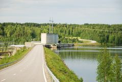 Finnish hydroelectric power station Royalty Free Stock Photo