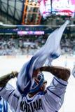 Finnish hockey fan royalty free stock photos