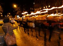 Finnish independence day torchlight procession Royalty Free Stock Photos