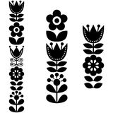 Finnish inspired long folk art pattern - Nordic, Scandinavian style Stock Photography