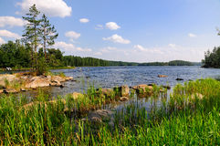 The Finnish Lakes. A picture showing one of the Finnish lakes in Finland Stock Photo