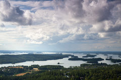 Finnish landscape full of lakes Stock Image