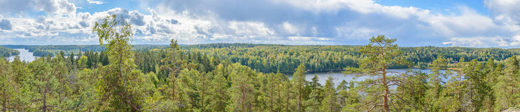 Finnish landscape in Nuuksio national park Stock Photos