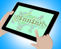 Finnish Language Means Words International And Languages. Finnish Language Showing Wordcloud International And Translate Royalty Free Stock Photo