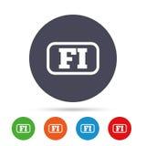 Finnish language sign icon. FI translation. Stock Images